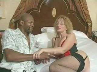 older slag creampied by a black man