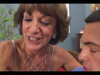 This old slut can t wait to take his junior dick