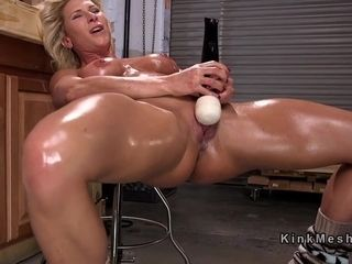 Giving bosom oiled grown up anal fucks gadgetry