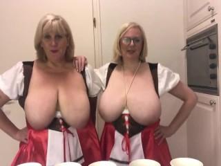 'Oktoberfest - 2 busty topless blondes'