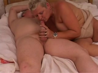 Granny with big boobs sucks and fucks