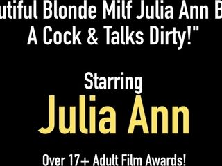 Jaw-dropping platinum-blonde cougar Julia Ann Blows A prick & converses muddy!