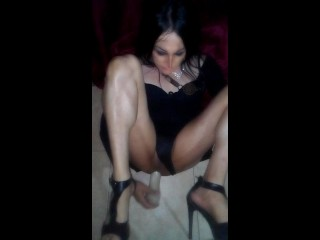 Travesti tania humped with good-sized fuck stick, (air look record)