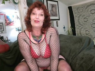 V 415 Red Hair, Red Lips and Red Lingerie