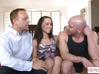 Dirty Husband Shares His Slutty Wife With Miserable Neighbor