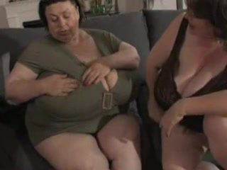 BBW grannies expose their massive knockers