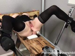 BDSM WIFE BOUND AND BROKEN ON FUCK MACHINE - NIKKI OLIVER