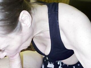 SweetMarie420 enjoying sucking and draining his cock