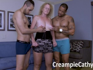 Wife Gets Extreme Creampie 1::Big Tits,6::Amateur,16::Mature,24::Interracial,27::Creampie,38::HD