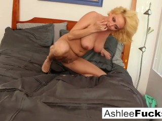 Hot solo action with busty blonde Ashlee Graham