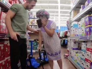 Thick Grandma Gets Piped In Walmart