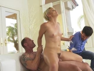 A Cuckold Forced To Watch His Slut Wife Moaning On A Bigger Cock. Hd