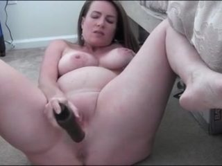 Horny Pregnant MILF Masturbates big boobs prego fingering