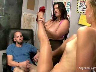 'Sex Ed Teacher Angelina Castro Instructs Student Tara Lynn Holmes In 3Some!'
