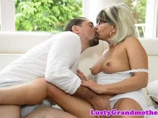 Spex granny banged by big cock