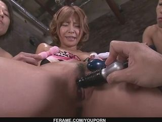 Dudes pulverize Sumire Matsu With playthings While She Blows Them - More at javhd.net
