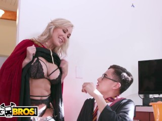 BANGBROS - step-mom 3 way With yam-sized meatpipe Wizard & 2 stunning Witches|1::yam-sized boobies,4::Blowjob,20::MILF,38::HD