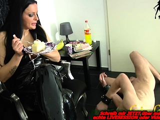 german bdsm latex domina and submissive slave