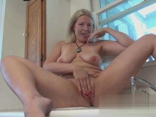 Kajsa Ollongren fingering her sel