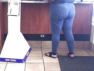 Black milf big ass standing in line alone