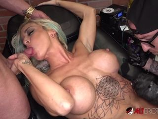 Vanessa Skye Gets Fucked After a Sexy Chest Tattoo - AltErotic