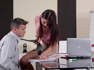 Kitana Lure is having rough anal sex with a co- worker and trying not to scream