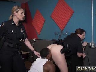 Cougar tugs crony' chief in tub moist movie grabs cop fuckin' a deadbeat parent.