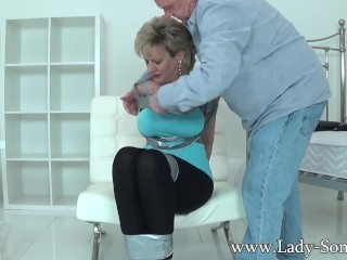 Doll Sonia has her puffies tantalized then gets smacked