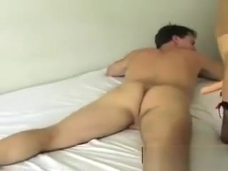Ash-blonde female domination frigs His bootie
