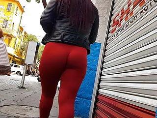 big booty orange leggings