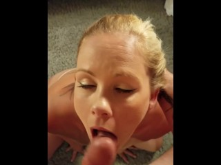 She gave me the best blowjob and swallowed all my cum! POV