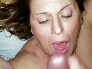 White - Putting a load of jizz on my wifes face