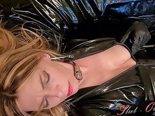 Slut-Orgasma Celeste beautiful agony, real orgasm in black l