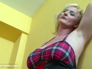 Interracial Porn Granny DPed by two black men anal and pussy fucked rough
