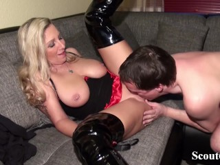 German matriarch Fucks connected with instructor of young gentleman be useful to in favour meld