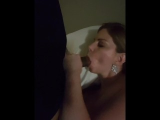 Ex wifey deep-throating big black cock