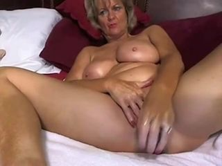 Cougar cougar likes milking with fake penis on web cam