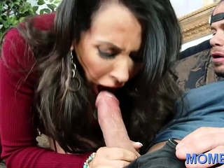 Racy brunette housewife Reagan Foxx getting banged