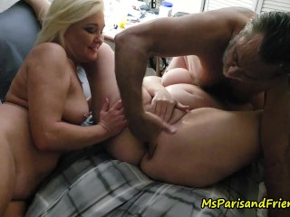One Guy, Two Girls Drinking Cunt Shots And Squirting