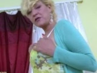"""OldNannY Hot Mature Playing Alone With Herself"""