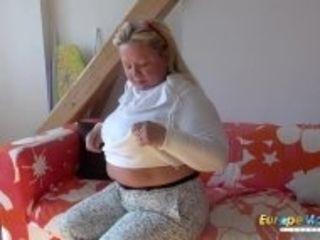 """EuropeMaturE Busty Mature Nina Striptease Showoff"""