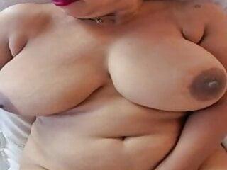 POV – Girl with big boobs masturbates