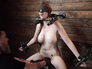 Busty Redhead Milf Was Tortured And Brought To Orgasm