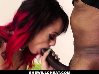 SheWillCheat - wifey Cheats With masseuse big black cock