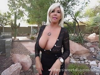 Cougar With humungous globes gargles Off And drinks Her Roofer