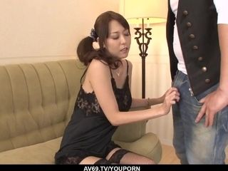 Akari Asagiri uses entire intensity to deal a huge spunk-pump - More at 69avs.com