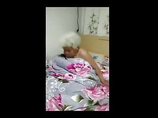 Blond chinese grannie