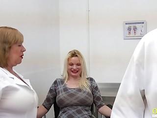 OldNannY British Mature Threesome Sex Toying