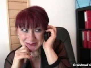 """""""Mature office lady in stockings riding and sucking"""""""