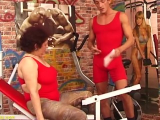 'sex workout with chubby hairy grandma'